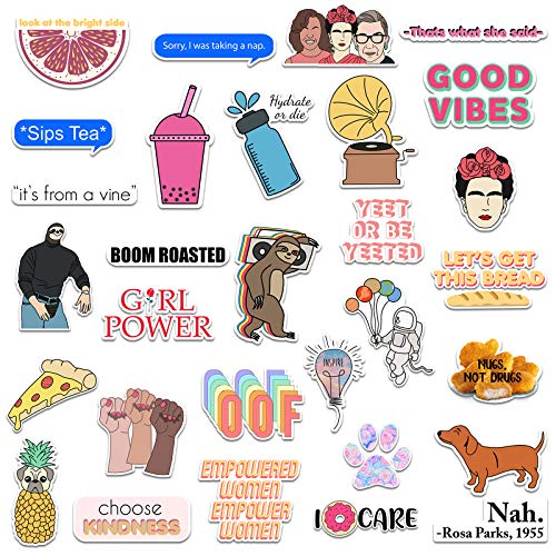 Ripdesigns 30 Vsco Stickers For Water Bottles Laptops Series 7