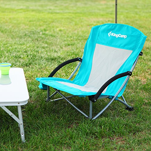KingCamp Low Sling Beach Camping Folding Chair with Mesh Back Virginia Beac