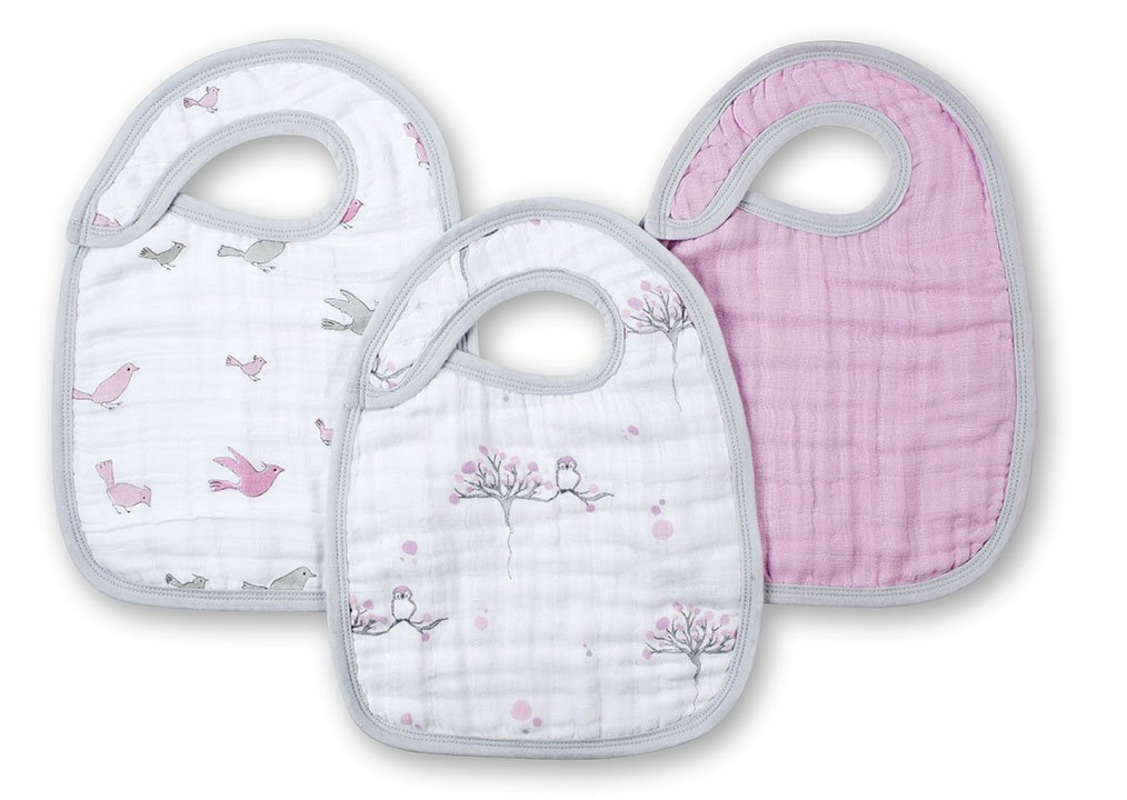 aden + anais snap bib 3 pack, for the birds