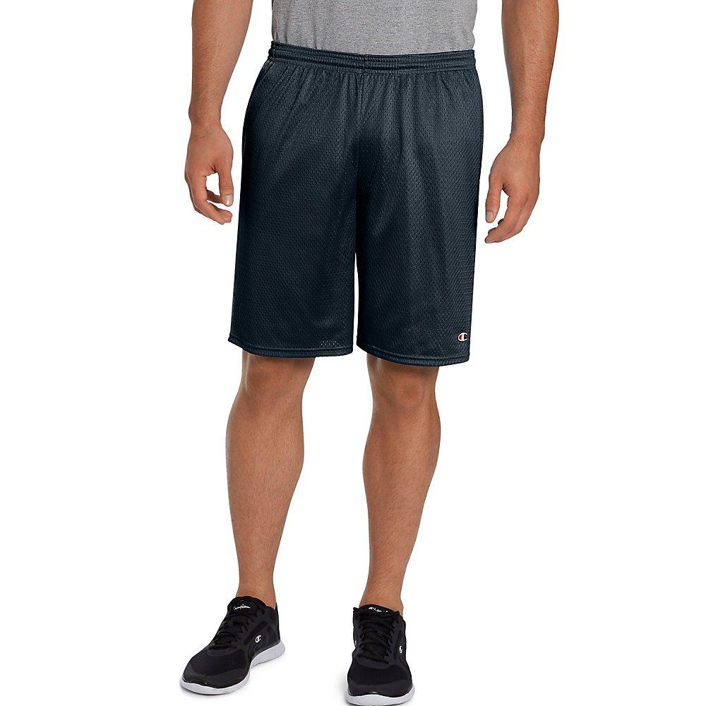 Champion Men's Long Mesh Short with Pockets, Navy
