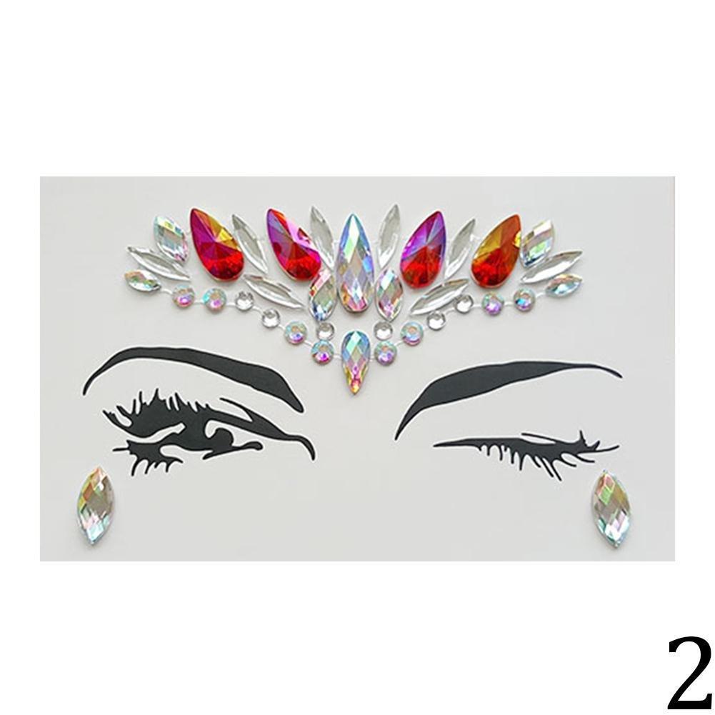 Gracefulvara Crystal Face Body Glitter Eye Stickers 2#