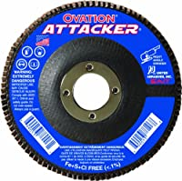 United Abrasives- SAIT 76208 Ovation Attacker Flap Disc, 4-1/2 x 7/8 Z 60x, 10 Pack