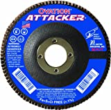 United Abrasives- SAIT 76209 Ovation Attacker Flap Disc, 4-1/2 x 7/8 Z 80x, 10 Pack