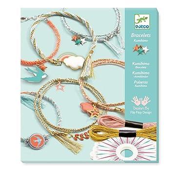 28954fd6d279 Set creativo Djeco Celeste de pulseras trenzadas, con hilos y accesorios