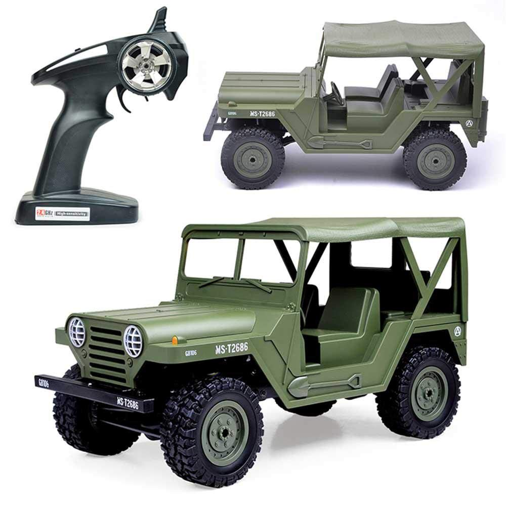 LAYOPO 4WD RC Car 1: 14 4x4 Remote Contral Car with LED Headlights 2.4GHz Off Road Vehicle RC Off-Road BG1522 RC Jeep for for Kids/Adults