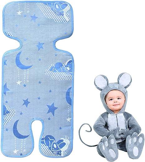 Colchoneta para Cochecitos,Asiento de Verano universal para cochecitos/ capazos de bebé/carritos/sillas de paseo seda del hielo fresco transpirable contra calor(Azul): Amazon.es: Bebé
