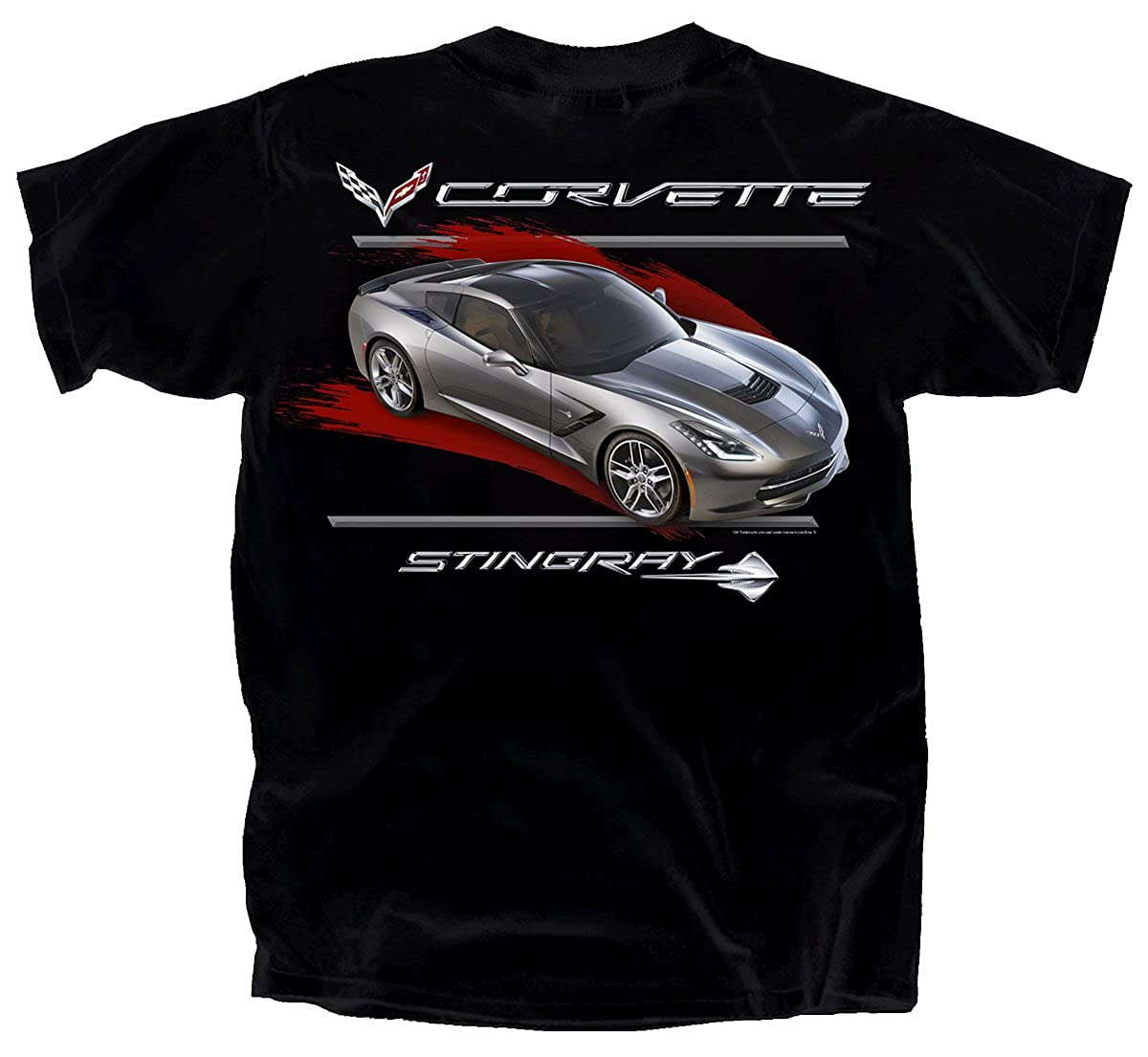 Joe Blow Grey C7 Corvette Stingray With Red Streak T-Shirt CVCGS