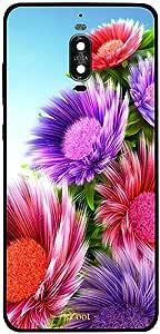 جراب Huawei Mate 9 Pro بغطاء زهور ملونة