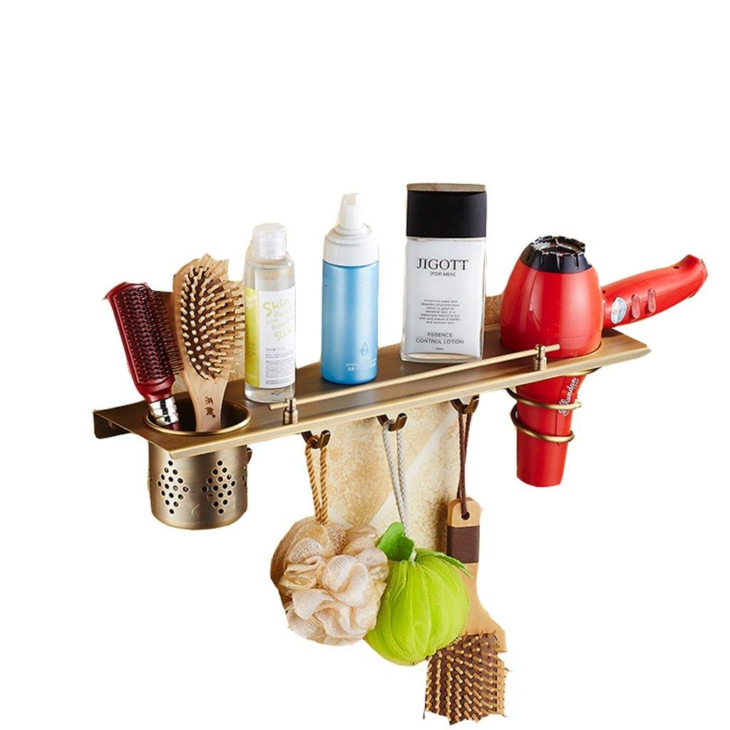 Rack shelf Shelf Hair Dryer Rack European Bathroom Bathroom Racks Wall-mounted Storage Air Duct Rack ( Size : 24cm )