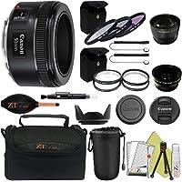 Canon EF 50mm f/1.8 STM Prime Lens ZeeTech Package (Professional Kit)