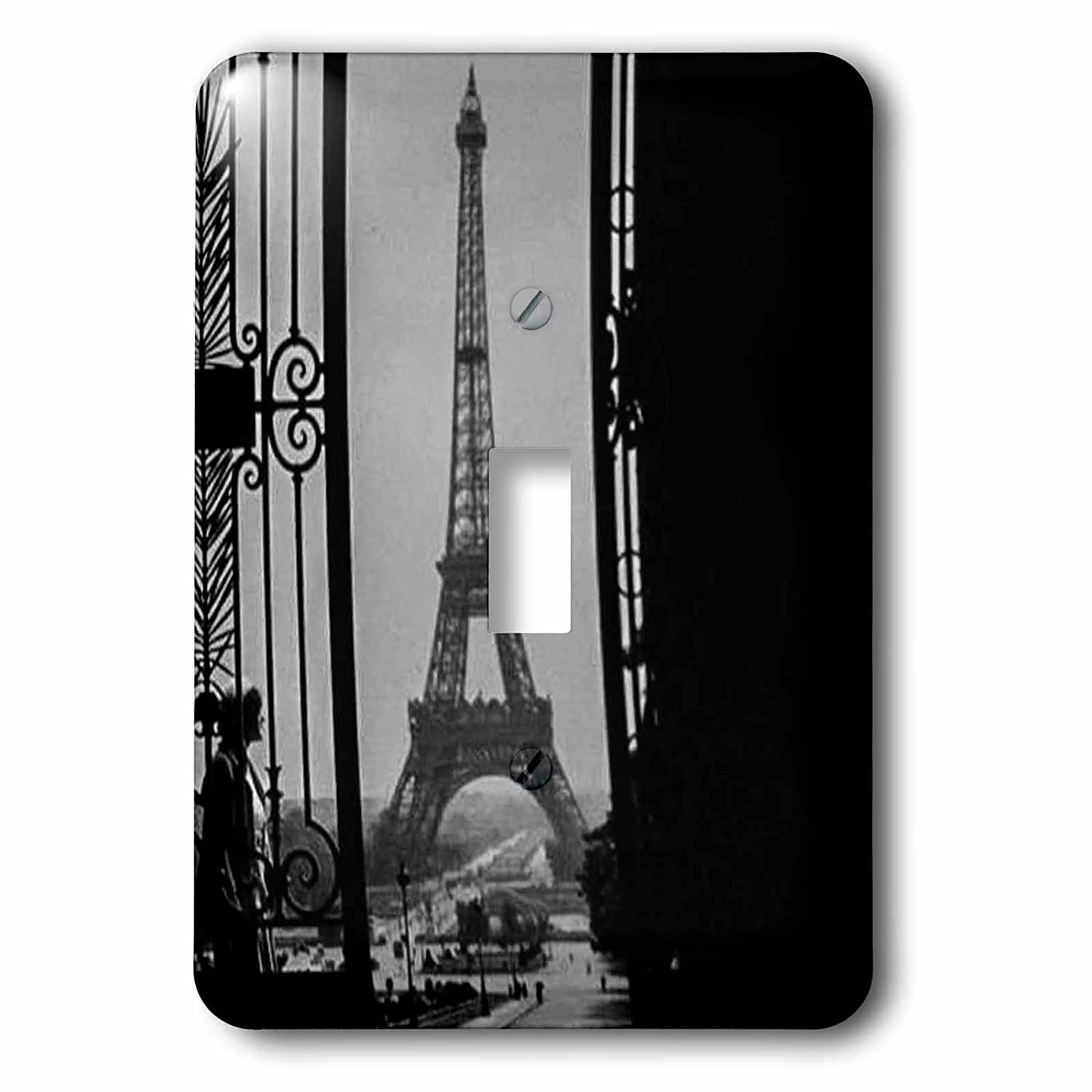 3dRose lsp/_240529/_2 Eiffel Tower Champs de Mars from Trocadoer Palace Paris France Vintage Double Toggle Switch