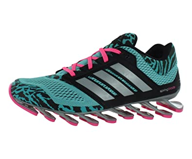 Adidas Women's Springblade Drive Running Shoes - Vivid Mint/Core Black/ Silver Metallic,
