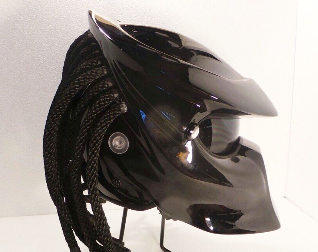 Amazon.com: Alien Helmet, Predator Helmet, Motorcycle Helmet - costume (Handmade) - Thailand : PDT1005BK: Sports & Outdoors