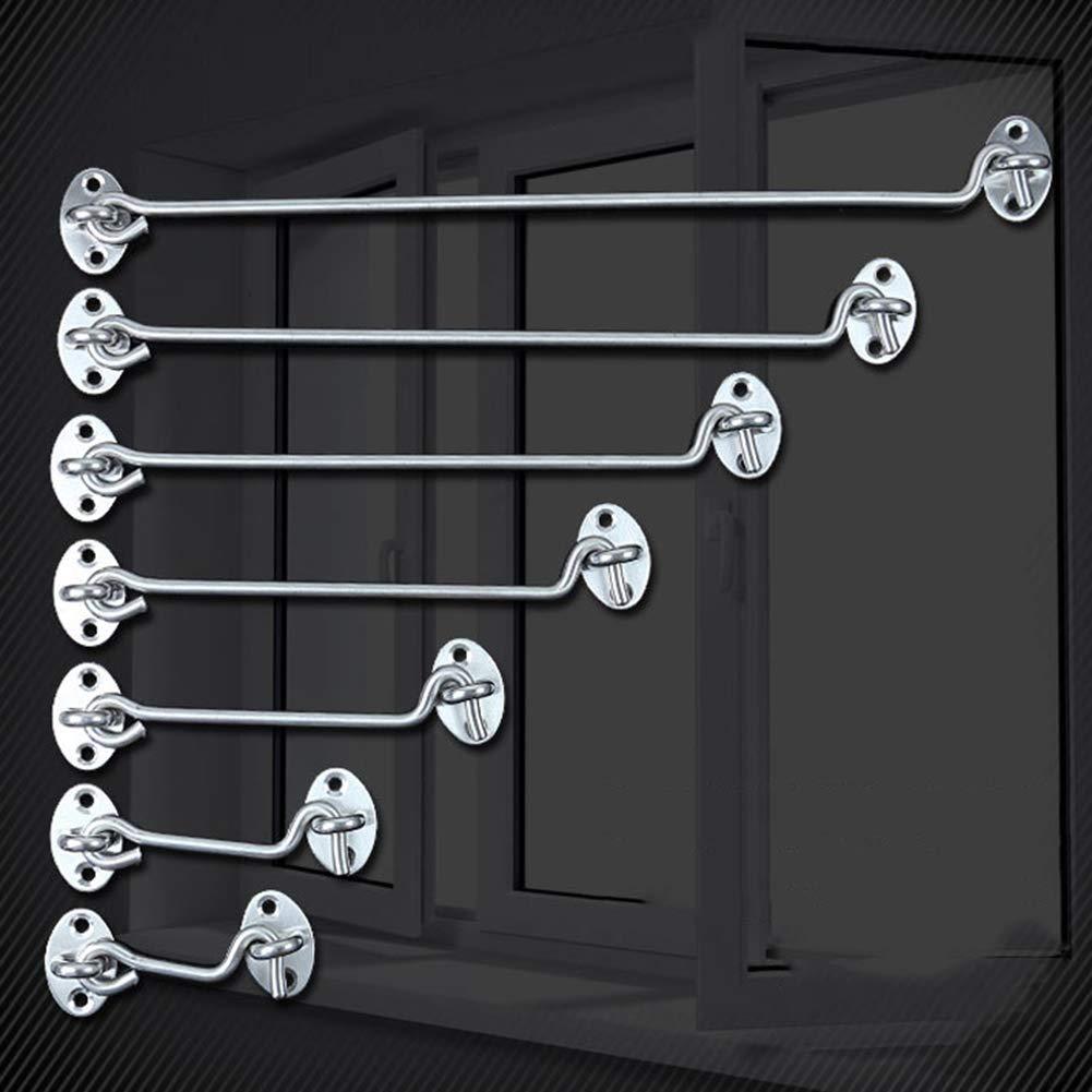 6 Inch periwinkLuQ 3-16inch Stainless Steel Cabin Hook /& Eye Latch Lock Shed Gate Door Catch Holder