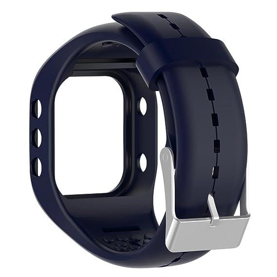 Cinta de repuesto para Polar A300, kingwo Soft Silicona Goma Reloj de pulsera pulsera para
