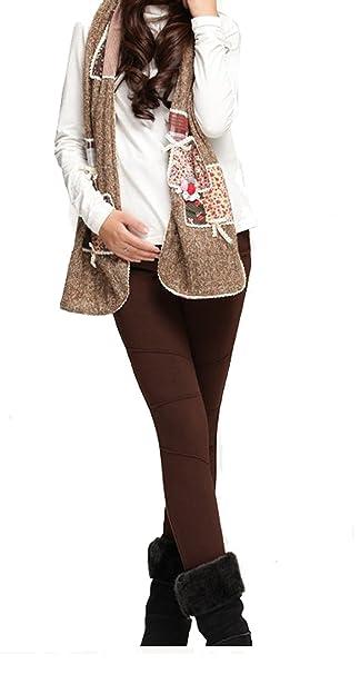 Angebébé - Leggings de invierno embarazadas - Leggings terciopelo mujer altavoz - expédie en Francia: Amazon.es: Ropa y accesorios