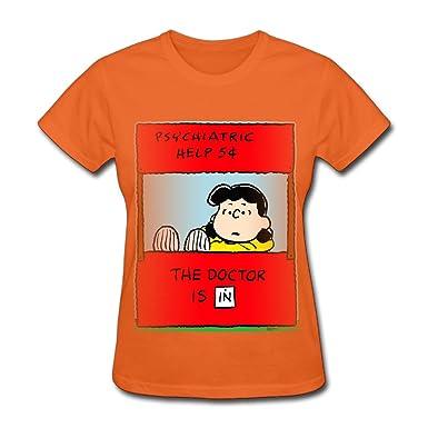 7d6b90de26 Tee-Women s Lucy Van Pelt Quotes Tshirts Shirt. at Amazon Women s ...