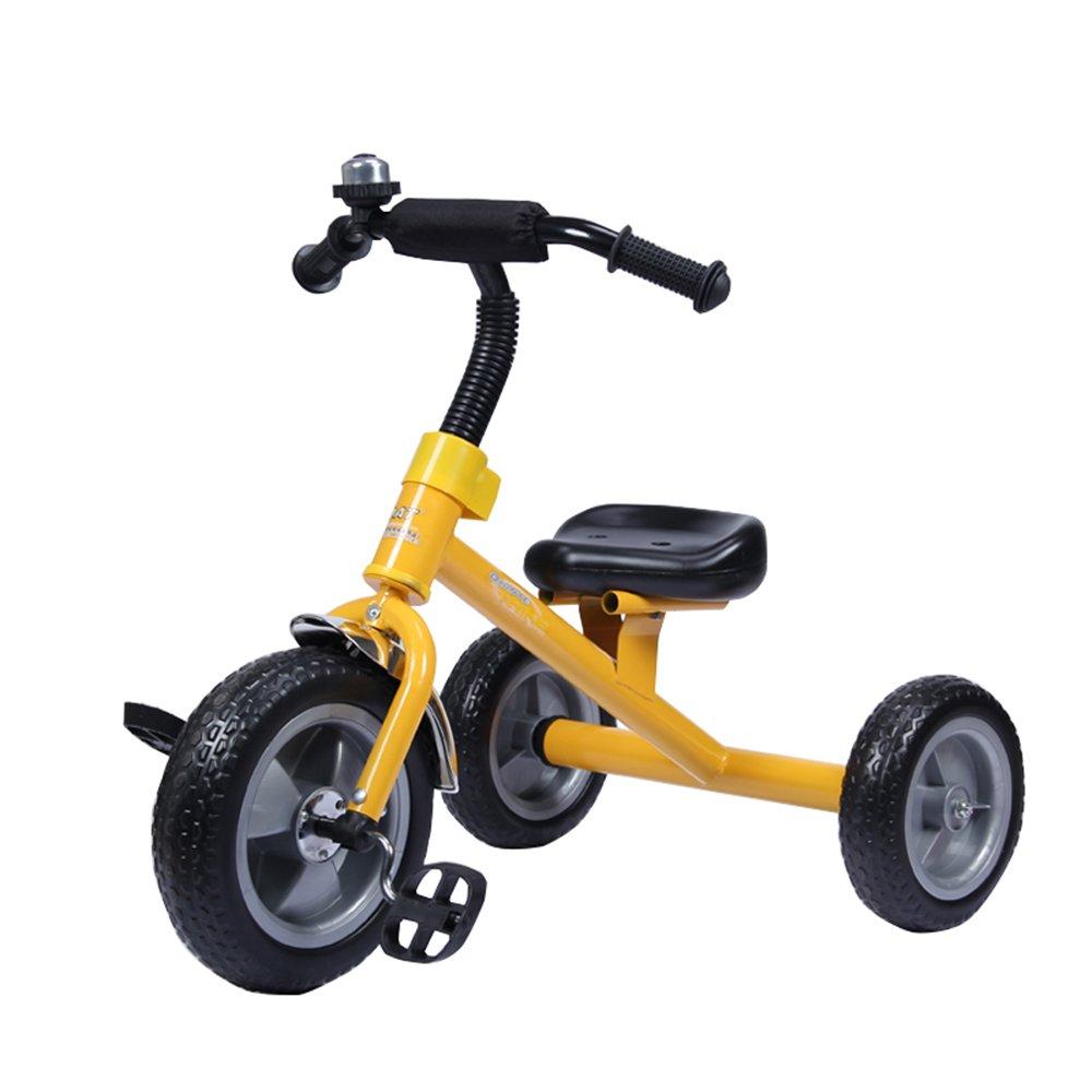 Kinder Dreirad Dreiräder Fahrrad Spielzeug Auto Walker 1-6 Baby Kinder Fahrrad Balance Farbe  Blau, Rot, Gelb (Farbe   Blau) Gelb