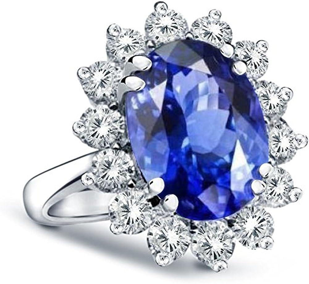 14k gold princess diana genuine diamond sapphire ring 3 00ctw amazon com 14k gold princess diana genuine diamond sapphire ring 3 00ctw