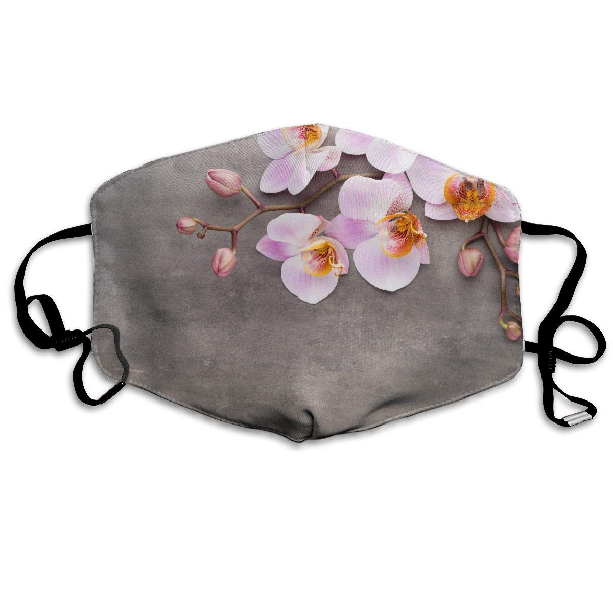 Unisex Orchid Flowers Printed Cotton Mouth-Masks Face Mask Polyester Anti-dust Masks