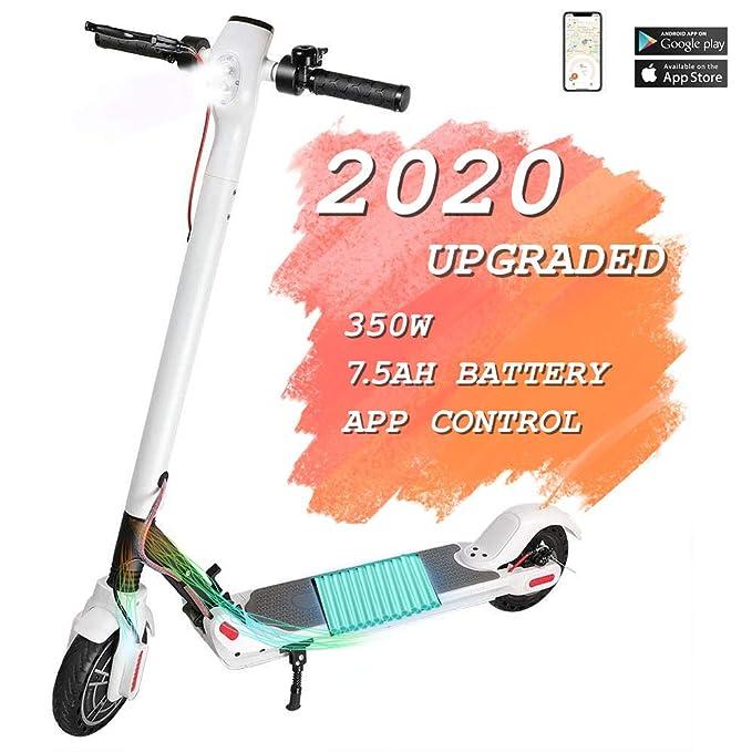 Scooter electrico, KUGOO ES2 Patinete Eléctrico es Ajustable la Altura para los Adolescentes y los Adultos 350W Batería 7.5AH, 30 Km Alcance, 25km/h