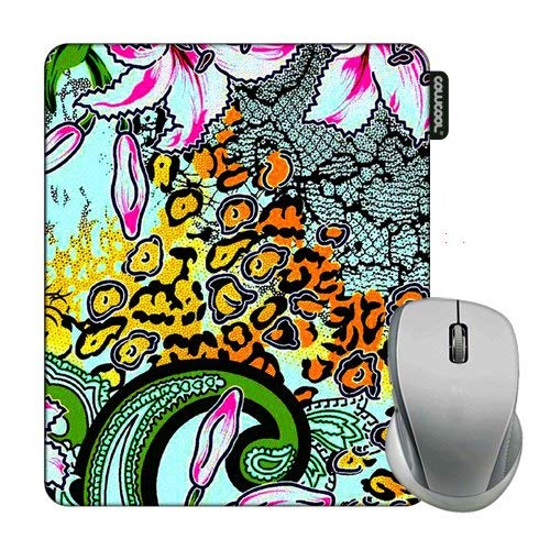 - Cowcool Flower Mouse Pad Hand Painted Vine Peony Camo Mouse Pads for Computers Laptop Gameing