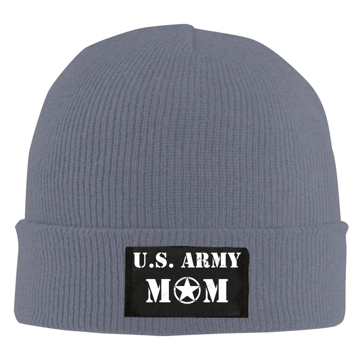 Men Women US Army MOM Skull Hat Beanie Cap Winter Knit Hat Cap