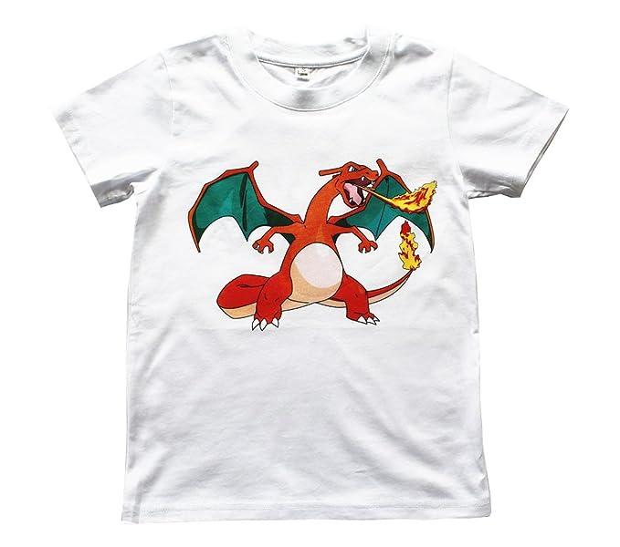 a2414999 FineApparel UK Seller Pokemon Go Boys Girls Kids Unisex 100% Cotton T Shirt  Charizard 4-13 Years: Amazon.co.uk: Clothing