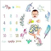 Fotograf/ía hito Manta beb/és reci/én nacidos Mantas Flores mensuales N/úmero apoyo de la foto Accessorries para los suministros para beb/és