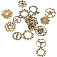 Ogquaton Aleación de engranajes mecánicos Retro Steampunk Plating Gears DIY Decoración Artesanía (Bronce)