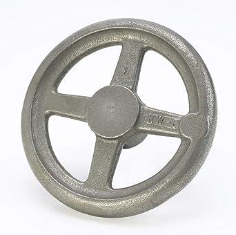 0.500 Bore Size Kipp 06271-4100XCP Grey Cast Iron//Steel Handwheel with Revolving Machine Handle 100 mm Diameter Inch