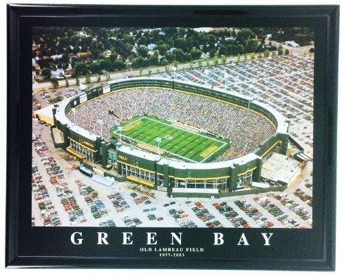 Old Lambeau Field Football Green Bay Packers Framed Print Wall Art - Field Lambeau Green