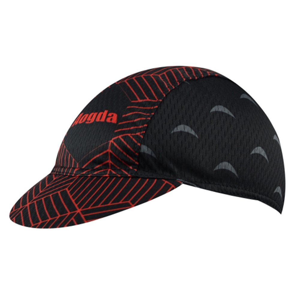 BIYINGEE Cycling Cap Polyester Fits Under Helmet Black Red