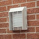 fresh air vent cover - WALL-E-COVER Exterior Vent Cover, White