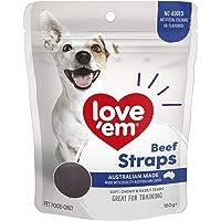 Love Em Beef Straps Dog Treats, 150 Grams