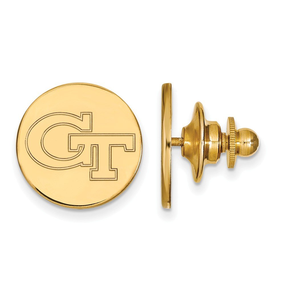 15mm x 15mm Jewel Tie 14k Yellow Gold Georgia Institute of Technology Lapel Pin