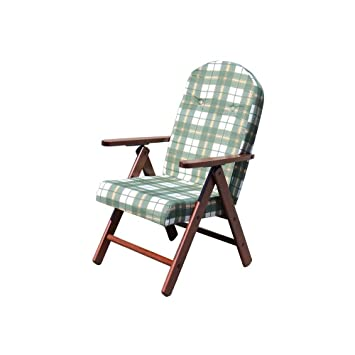 Amazon.de: Liegestuhl 4 Positionen grün mit Kissen für Innen ...