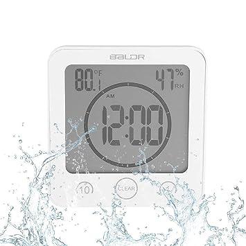 Exceptionnel Horloge De Salle De Bain Horloge étanche Douche Écran LCD Numérique  Thermomètre Hygromètre Minuterie Horloge Murale