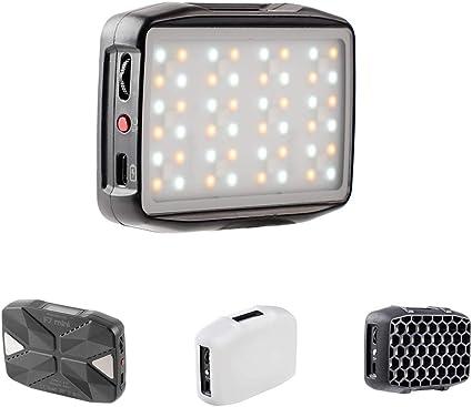 Todo para el streamer: Falcon Eyes F7 Mini bolsillo RGB LED de cámara de control portátil Adsorbierbar para vídeo/estudio/YouTube/Vlg fotografía