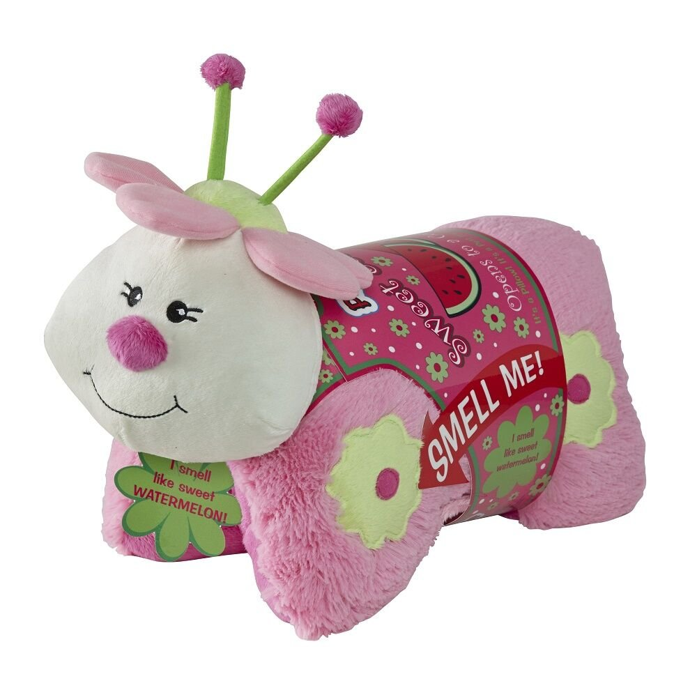 Pillow Pets Sweet Scented Pets - Watermelon Ladybug, 16'' Watermelon Scented Animal Plush Toy