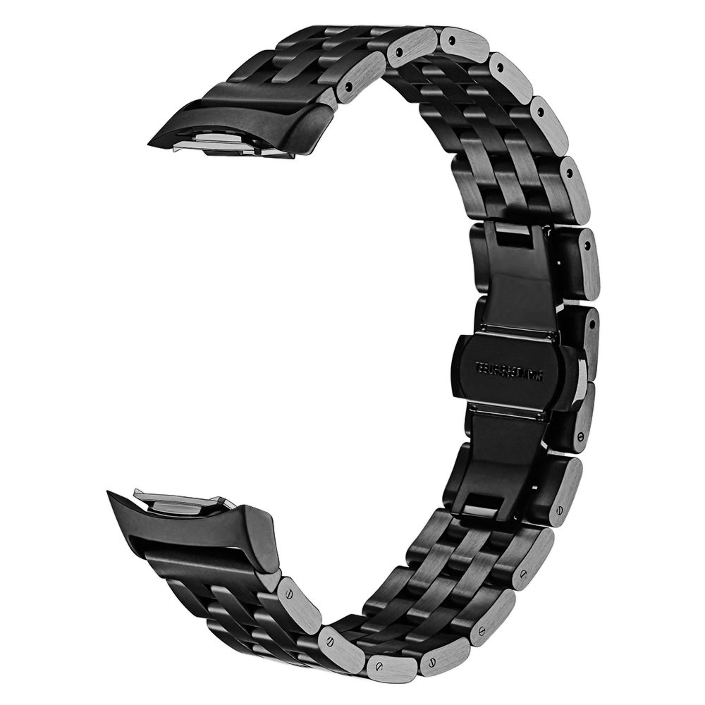 VIGOSS for Samsung Gear S2 Watch Band,VIGOSS Lux Butterfly Buckle Stainless Steel Metal Watchband Replacement Strap Bracelet for Samsung S2 SM-R720 and SM-R730 Smart Watch (Metal Black)