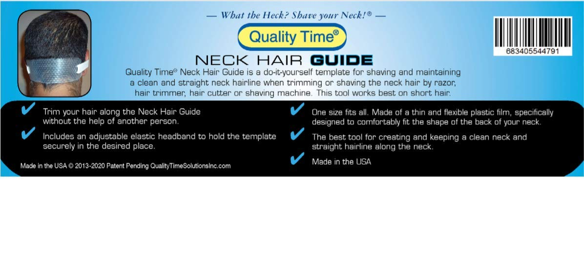 Amazon Quality Time Neck Hair Guide A Template For Shaving