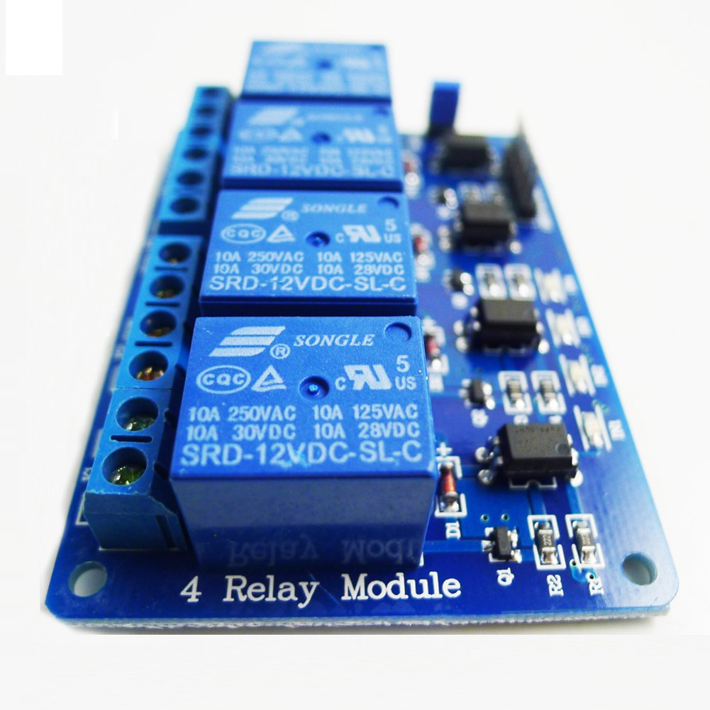 Geree 4 Channel Dc 12v Relay Module With Optocoupler For Dc5v To Dc30v Converter By 74hc14 Pic Avr Dsp Arm Arduino Car Electronics