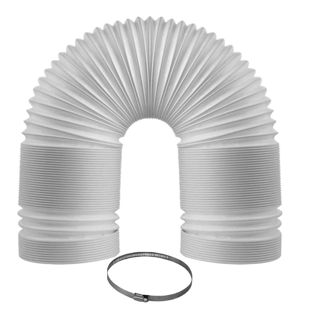 """Portable Air Conditioner Exhaust Hose - (5″ X 72"""") - Counterclockwise Threading - 5 Inch Diameter By 72 Inch Length - Bonus Clamp Included"""