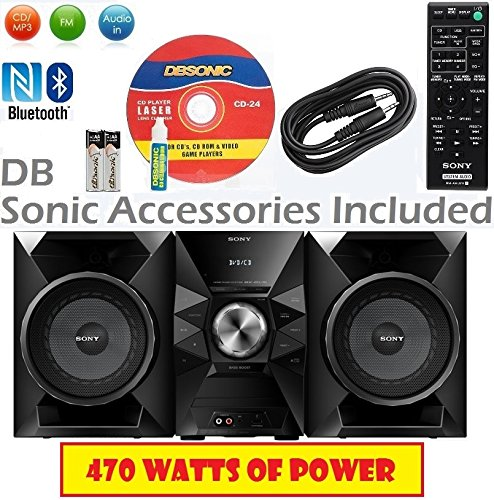 Sony 470 Watt NFC Bluetooth Sound System w/MP3 CD Player, FM
