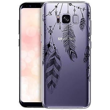 OOH!COLOR Carcasa para Móvil Compatible con Funda Samsung Galaxy S8 Plus Silicona Atrapasueños Transparente Suave Bumper Teléfono Caso para Samsung S8 ...