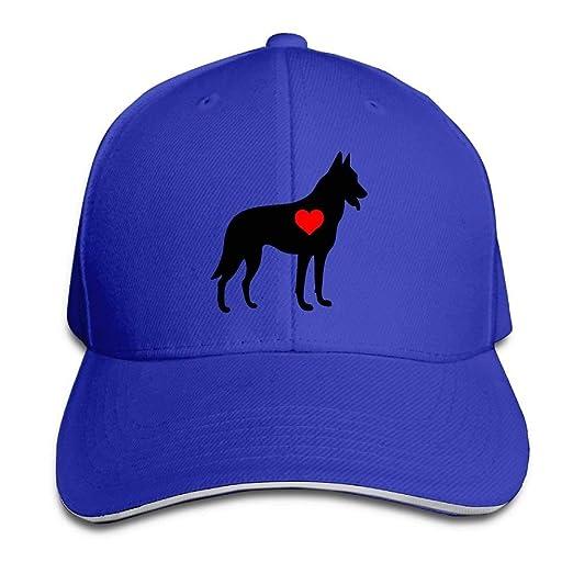 German Shepherd Outdoor Snapback Sandwich Cap Adjustable Baseball Hat Trucker Cap