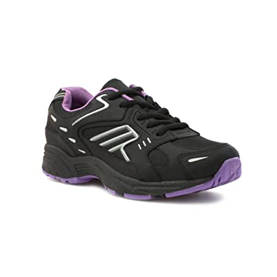 Tick Womens Black Lightweight Lace Up Trainer - Sizes 3456789
