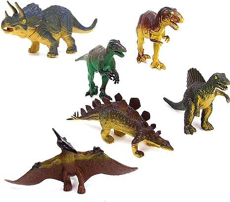 Plastic Dinosaur Set for Kids-Set of 6 PCS