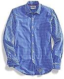 Goodthreads Men's Slim-Fit Long-Sleeve Gingham Shirt, Blue/White, Large